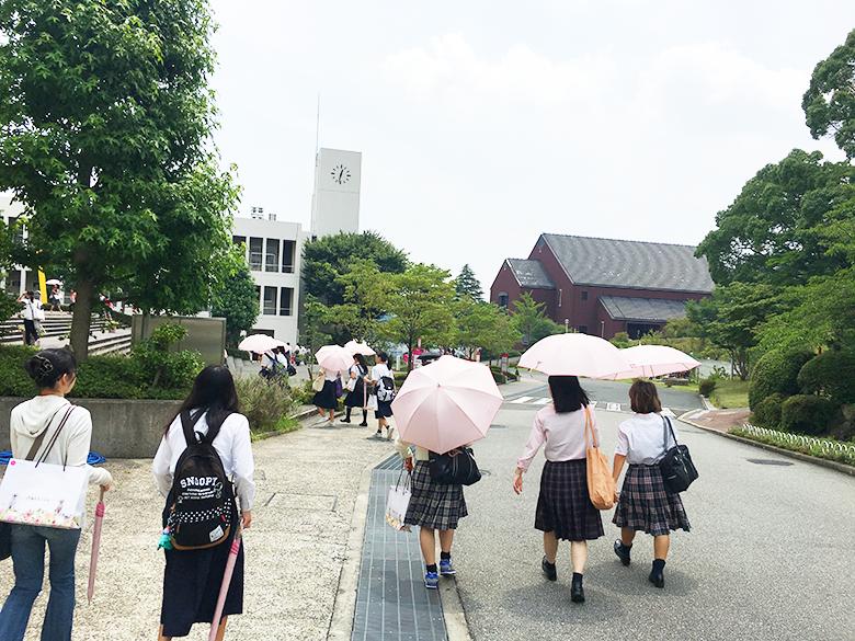 来場者プレゼントの BAIKA×CLATHAS(クレイサス) 今回はピンクの日傘です